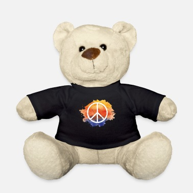 Symbol Symbol peace gift world peace hippie - Teddy Bear