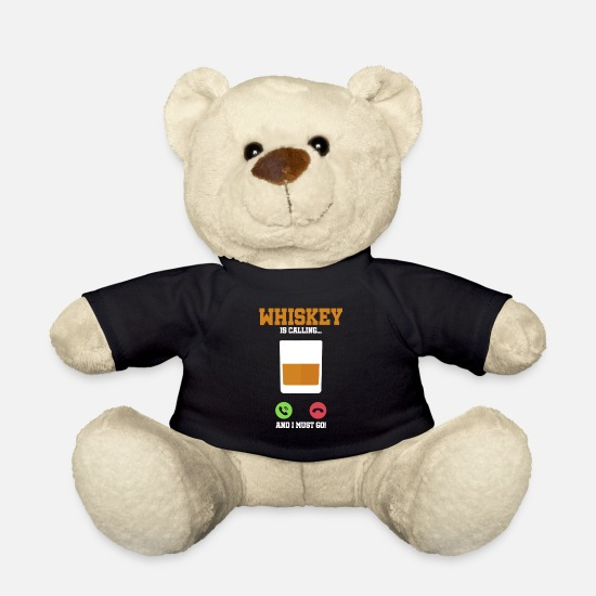Alcohol Teddy Bear Toys - Whiskey Alcohol Party is calling I have to go gift - Teddy Bear black
