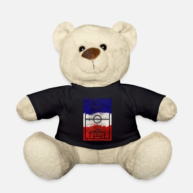European Championship Soccer Playing Field French Flag - Teddy Bear
