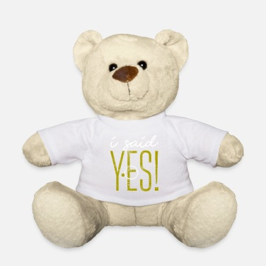 To Announce Wedding announcement - Teddy Bear
