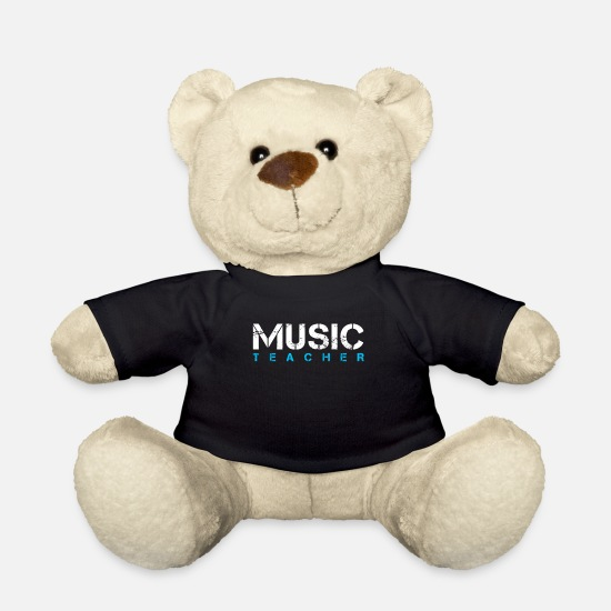Music Teddy Bear Toys - Music teacher musician choir music lover - Teddy Bear black