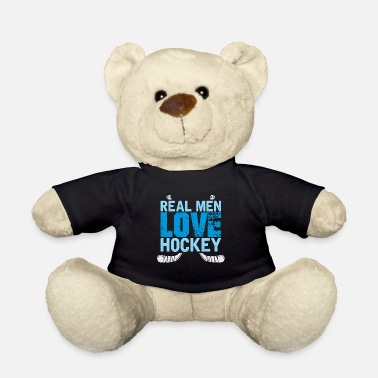 Real Men Love Hockey - sport - cadeau - Teddybeer