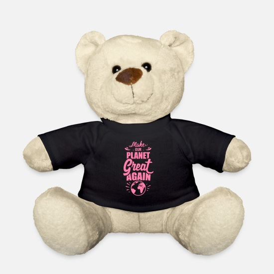 Gift Idea Teddy Bear Toys - Save the Planet - Teddy Bear black