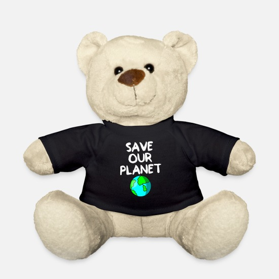 Enviromental Teddy Bear Toys - Save our planet - Teddy Bear black
