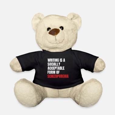 Writing Schizofrenie Awareness TShirt Design Writing - Teddybeer