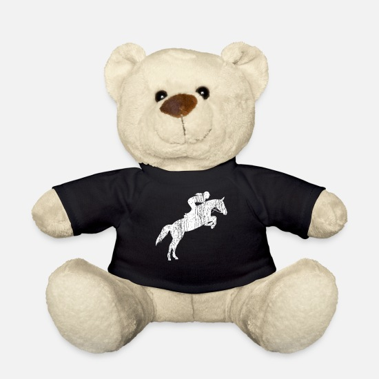 Rodeo Teddy Bear Toys - show jumping - Teddy Bear black