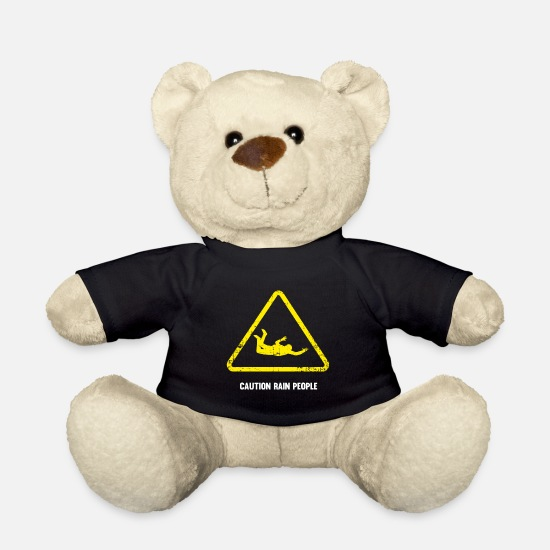 Skydiving Teddy Bear Toys - Base Jumping parachute jumping gift - Teddy Bear black
