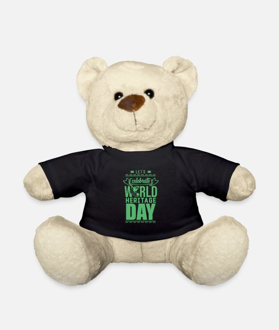 Family Crest Teddy Bear Toys - World Heritage World Heritage Holiday World Heritage Day - Teddy Bear black