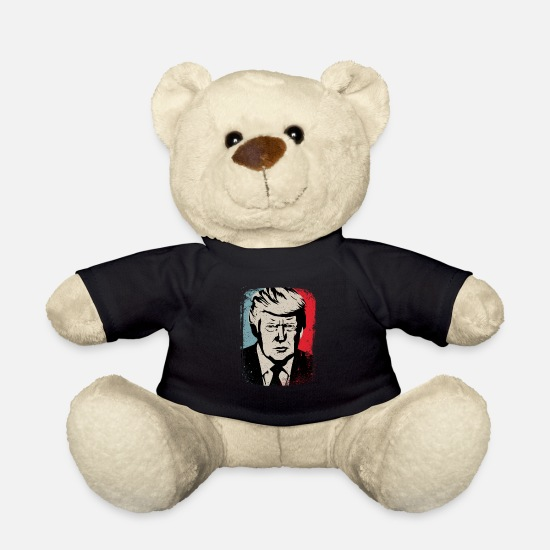 Usa Bamser - Donald Trump Retro - Bamse sort