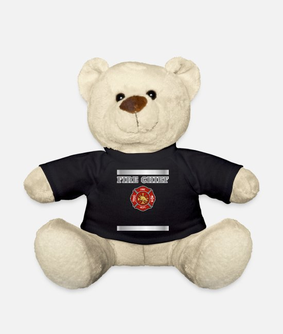 Trendy Firefighter Bunker Teddy Bear Toys - Firefighter Uniform product, Bunker Gear print, - Teddy Bear black