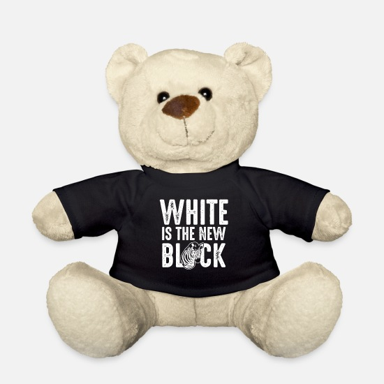 Beautiful Teddy Bear Toys - Zebra White is the new black - contrast color - Teddy Bear black