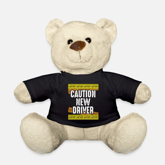 New Teddy Bear Toys - Caution New driver New licensed driving - Teddy Bear black