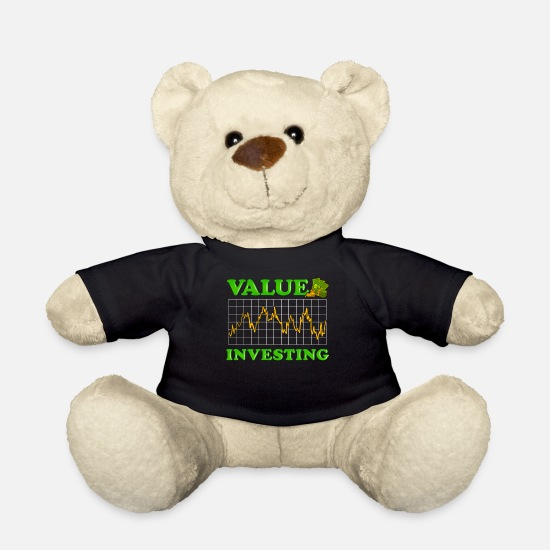 Mercato Azionario Peluche - Value Investing Stock Market Investing Finance - Orsetto nero