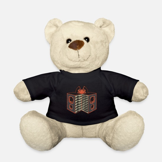 Sound Teddy Bear Toys - Beat Tremor's Orgasmic Sounds Stereo Speaker - Teddy Bear black