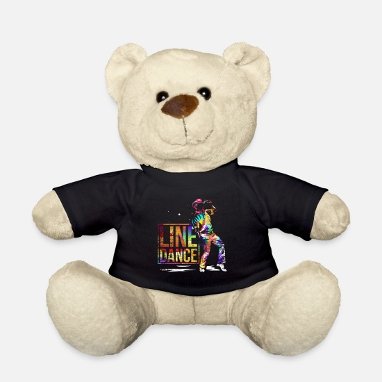Gift Idea Teddy Bear Toys - Line dancing gift - Teddy Bear black