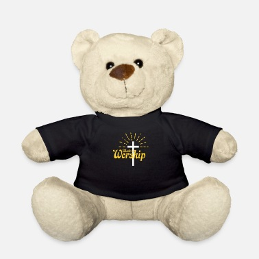 Worship Cross Made To Worship Funny Christian Religious Worship - Teddy Bear