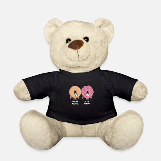 Makeup Teddy Bear Toys - Make-up artist donut beautician make-up artist - Teddy Bear black