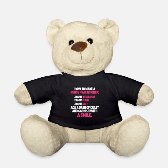 Gift Idea Teddy Bear Toys - Nurse Hospital Medicine Nursing - Teddy Bear black