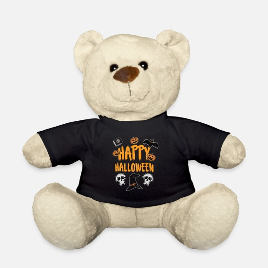 Bat Teddy Bear Toys - Happy Halloween - Teddy Bear black