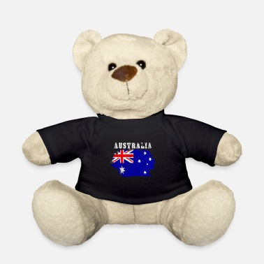 Emblem Australia Flag Countries Down Under Vintage - Teddy Bear