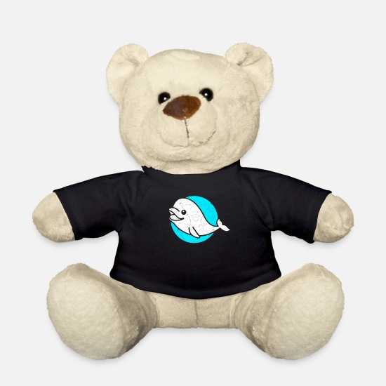 Marine Animal Teddy Bear Toys - Beluga Whale Fish Costume Retro Sea Life - Teddy Bear black