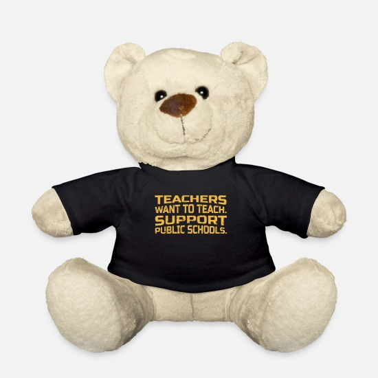 Teacher Teddy Bear Toys - Teacher Support Public Schools Gift Public School - Teddy Bear black