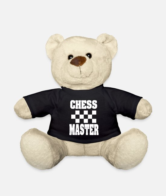 Chess Teddy Bear Toys - Chessmaster board game Chess Matt Gift Club - Teddy Bear black