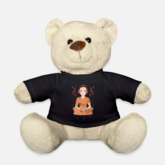 Style Of Music Teddy Bear Toys - Buddha Buddhism music DJ music Tibet monk - Teddy Bear black
