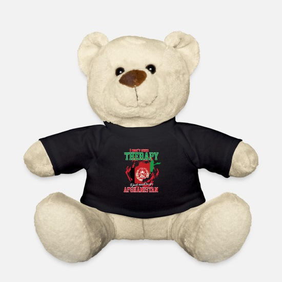 Travel Teddy Bear Toys - I don't need therapy - afghanistan - Teddy Bear black