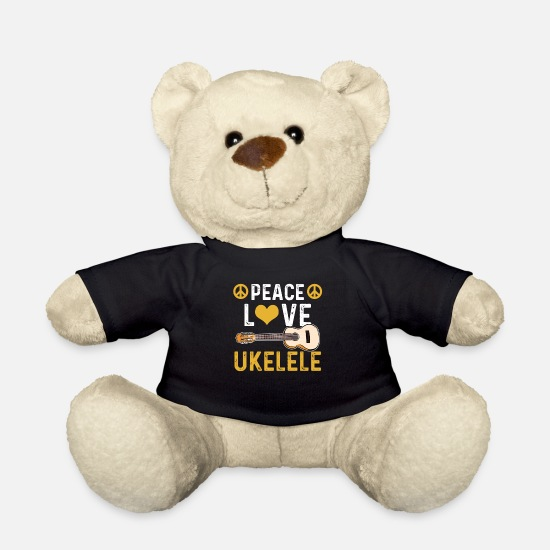 Ukulele Teddy Bear Toys - Ukulele uke - Teddy Bear black