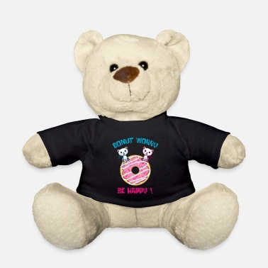 Pun Fan Donut Worry Pun Fan and Donut Lover Gift - Teddy Bear