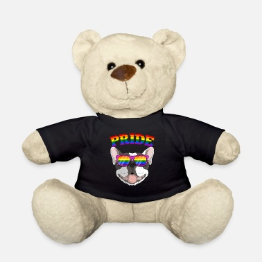 Communism Gay Pride Frenchbull Frenchie Dog with LGBT - Teddy Bear