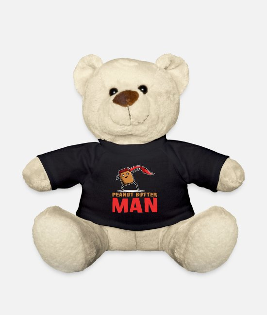 Couples Teddy Bear Toys - Peanut Butter Man Superhero Spread Bread Loaf - Teddy Bear black