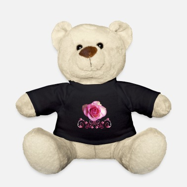 pink rose, ornaments, roses, pink, flowers - Teddy Bear