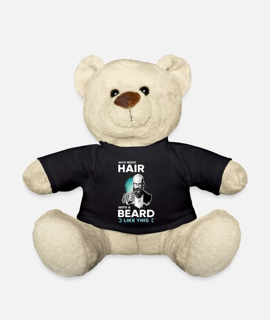 No Shave Teddy Bear Toys - Beard beard beard facial hair full beard saying - Teddy Bear black