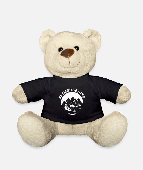 Wave Teddy Bear Toys - Skimboarding boardsport - Teddy Bear black