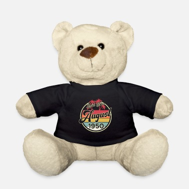 70th Vintage 80s August 1950 70th Birthday Gift Idea - Teddy Bear