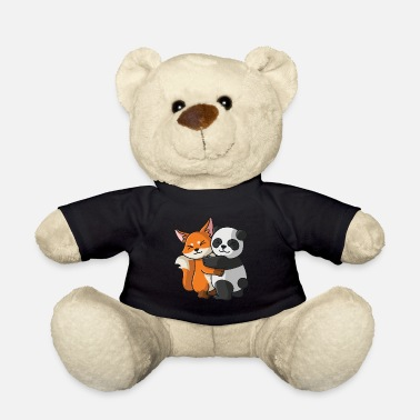 Panda Fox with panda love sweet cute animals - Teddy Bear