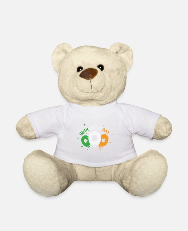 St Patricks Day Teddy Bear Toys - Irish Every Day St Patrick's Day - Teddy Bear white