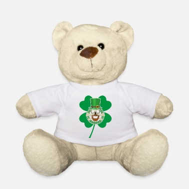 Pretty Patricks Day Skull Green - Teddybär