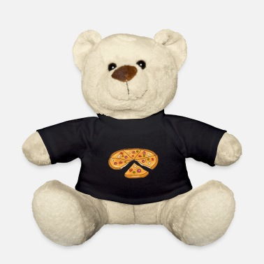 Milan Pizza Pizza Piece Fast Food Gift - Teddy Bear
