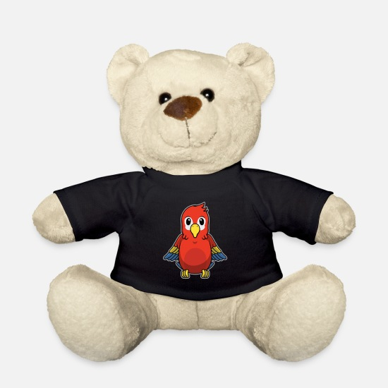 Knuffig Bamser - Animal Child Parrot Ara Sød Cute Gave - Bamse sort