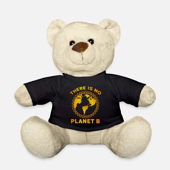 Earth Teddy Bear Toys - There Is No Planet B - Teddy Bear black