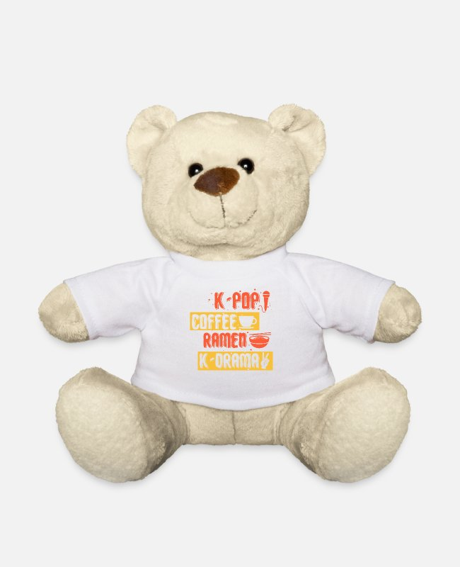 Pop Teddy Bear Toys - K-Pop Korean-language pop music music - Teddy Bear white