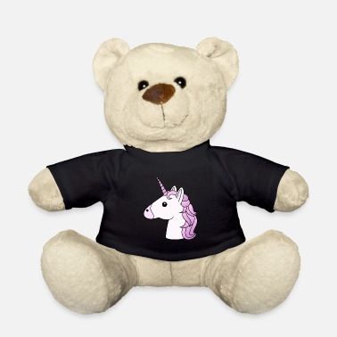 Lilac Unicorn head in lilac - Teddy Bear