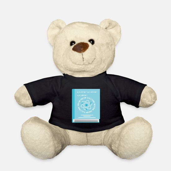 Positive Teddy Bear Toys - Science about the atom - Teddy Bear black