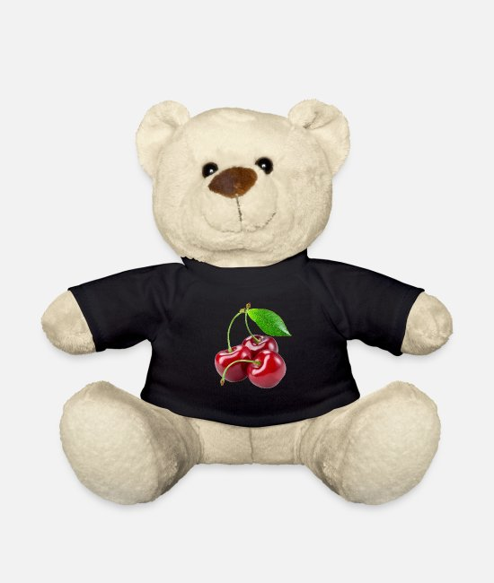 Red Teddy Bear Toys - cherry - Teddy Bear black