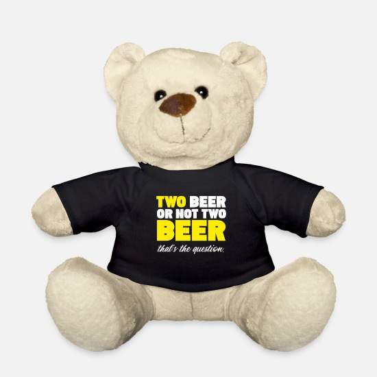 Alcohol Teddy Bear Toys - Beer Beer - Teddy Bear black