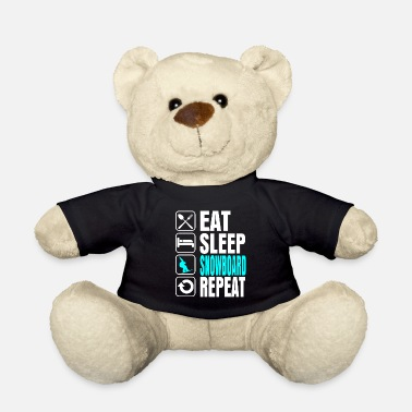 Sleep Eat Sleep Snowboard Repeat - Teddy Bear