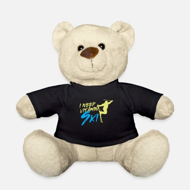 Vitamin Ski Skiing Skier Ski Slope Gift - Teddy Bear